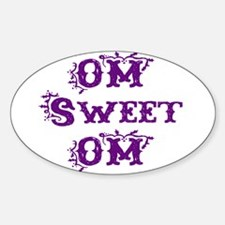 OM sweet OM Oval Decal