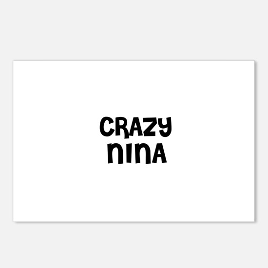 CRAZY NINA Postcards (Package of 8)