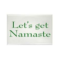 Let's Get Namaste Rectangle Magnet