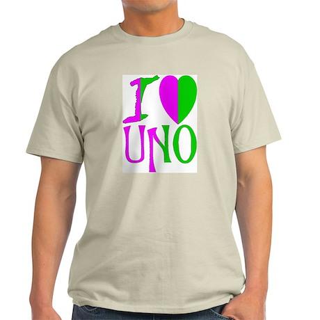 UNO Pink & Green Ash Grey T-Shirt