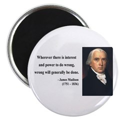 James Madison 11 Magnet