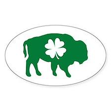 Buffalo Clover Oval Decal