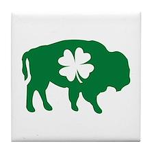 Buffalo Clover Tile Coaster