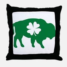 Buffalo Clover Throw Pillow