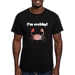 I'M CRABBY Men's Fitted T-Shirt (dark)