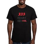 333 HALF EVIL Men's Fitted T-Shirt (dark)