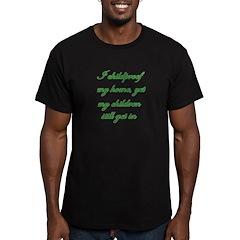 PARENTING HUMOR Men's Fitted T-Shirt (dark)