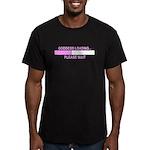 GODDESS LOADING Men's Fitted T-Shirt (dark)
