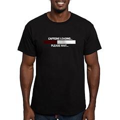 CAFFEINE LOADING... Men's Fitted T-Shirt (dark)