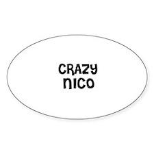 CRAZY NICO Oval Decal