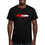 TEMPER LOADING... Men's Fitted T-Shirt (dark)