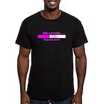 GIRL LOADING... Men's Fitted T-Shirt (dark)