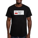 WOMB CAPACITY Men's Fitted T-Shirt (dark)