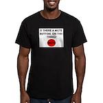 MUTE BUTTON Men's Fitted T-Shirt (dark)