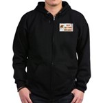 LEAF NO STONE UNTURNED Zip Hoodie (dark)