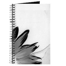 B&W Neg Corner Sunflower Journal