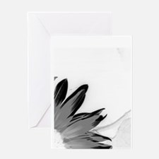 B&W Neg Corner Sunflower Greeting Card