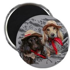 Fishing Doxies Magnet