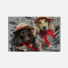 Fishing Doxies Rectangle Magnet