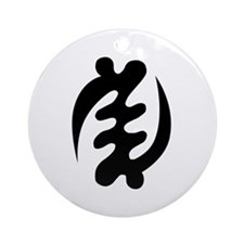 Gye Nyame Ornament (Round)