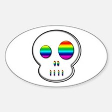 Little buddy rainbow eyes Oval Decal