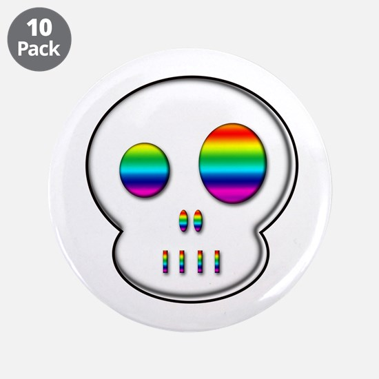 "Little buddy rainbow eyes 3.5"" Button (10 pack)"