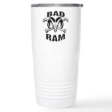 Black Bad Ram Travel Coffee Mug