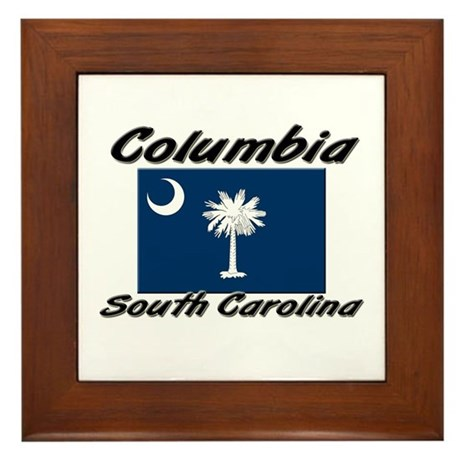 Columbia South Carolina Framed Tile