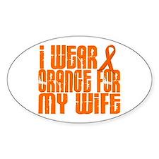 I Wear Orange For My Wife 16 Oval Decal