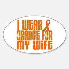 I Wear Orange For My Wife 16 Oval Decal