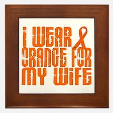 I Wear Orange For My Wife 16 Framed Tile