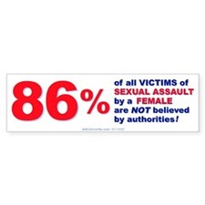 Sexual Assault by Females Bumper Bumper Sticker