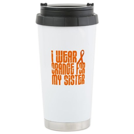 I Wear Orange For My Sister 16 Stainless Steel Tra