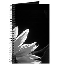 Black & White C Sunflower Journal
