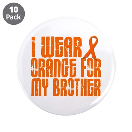 "I Wear Orange For My Brother 16 3.5"" Button (10 pa"