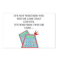 funny bingo joke Postcards (Package of 8)