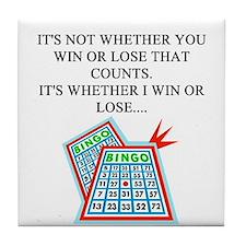 funny bingo joke Tile Coaster