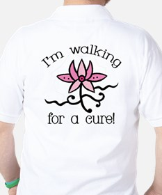 Walking for a Breast Cancer Cure Golf Shirt