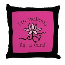 Walking for a Breast Cancer Cure Throw Pillow