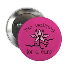 "Walking for a Breast Cancer Cure 2.25"" Button"