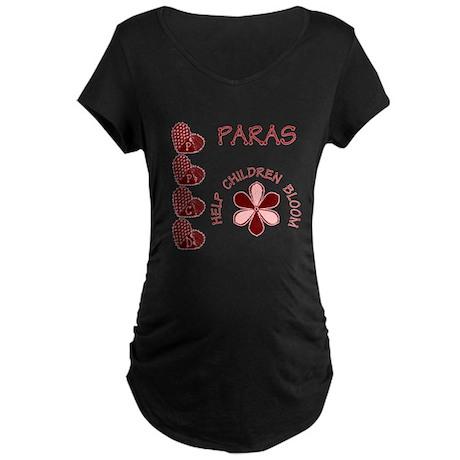 PPCD Paras help children bloom Maternity Dark T-Sh
