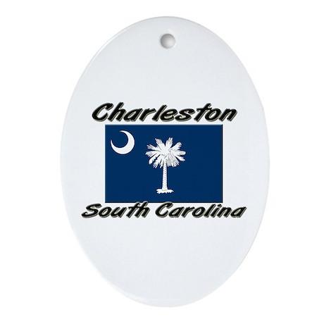 Charleston South Carolina Oval Ornament