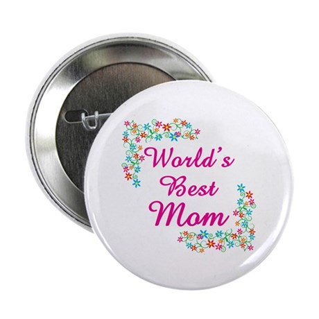 """World's Best Mom 2.25"""" Button (100 pack)"""