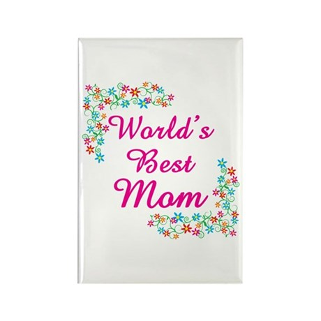World's Best Mom Rectangle Magnet (100 pack)
