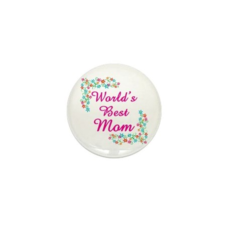 World's Best Mom Mini Button (100 pack)