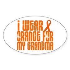 I Wear Orange For My Grandma 16 Oval Decal