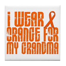 I Wear Orange For My Grandma 16 Tile Coaster