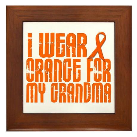 I Wear Orange For My Grandma 16 Framed Tile