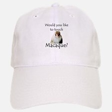 Would you like to touch Macaque Baseball Baseball Cap