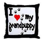 I love my grandpuppy Throw Pillow